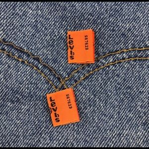 Levi's Orange Tab Labels for replacements tabs